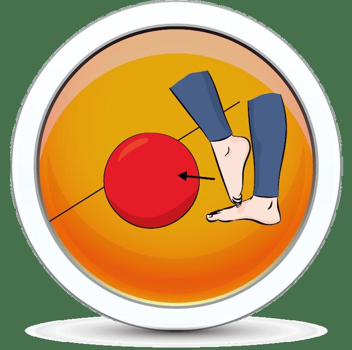 Jedno z ćwiczeń na wzmocnienie mięśni stopy
