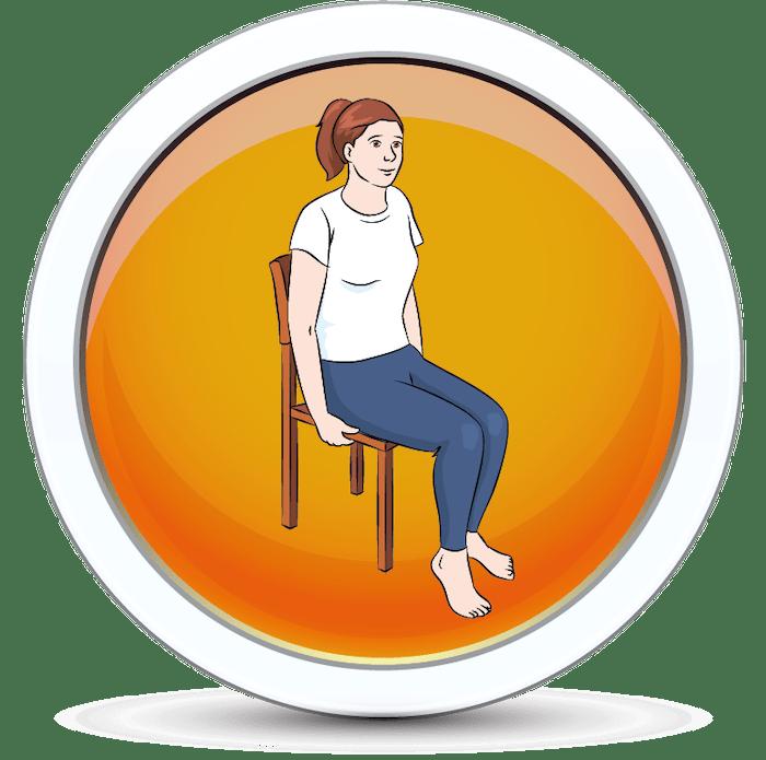 Wzmocnienie mięśni po przez wykonywanie ćwiczenia na krześle