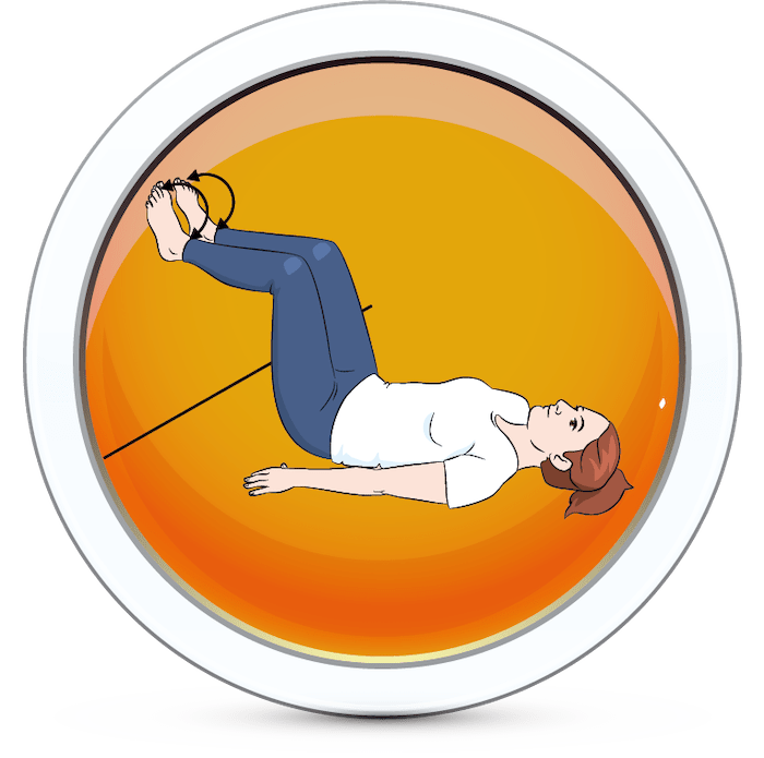 Wzmocnienie stawów skokowych po przez przetaczanie stóp po ścianie