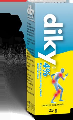 Opakowanie diky 4% aerozol na skórę